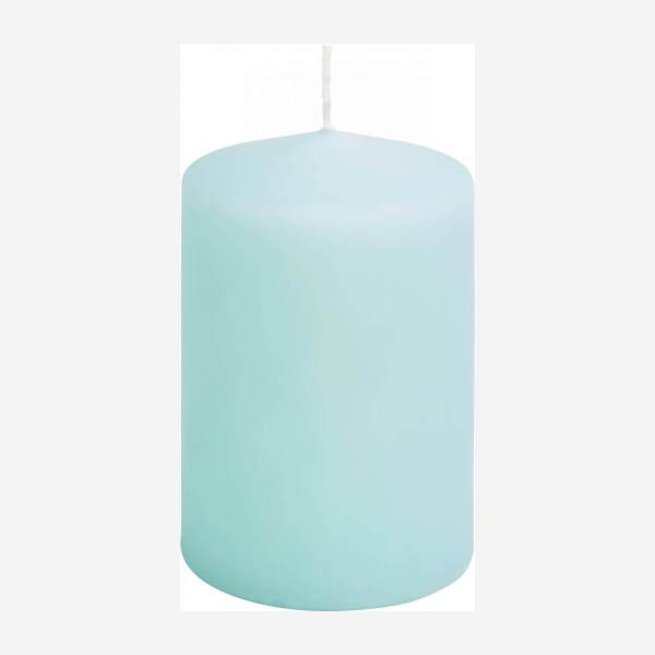 Cylindrical candle 10cm, blue