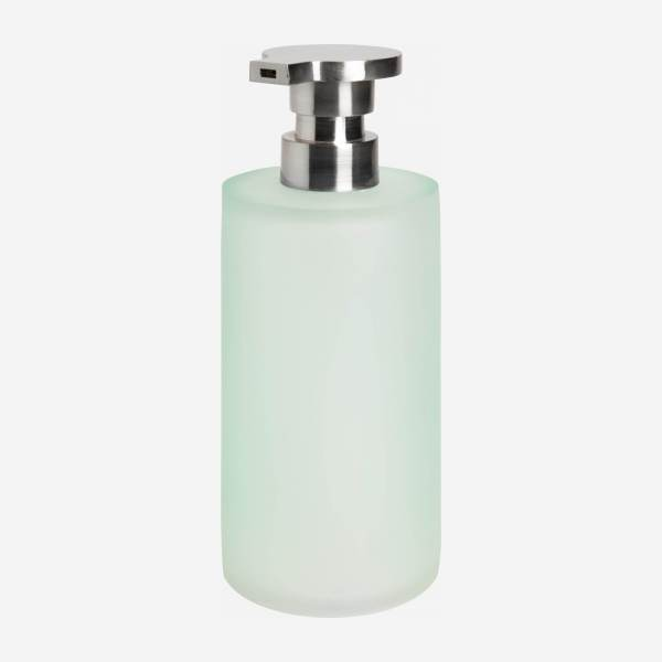 Soap dispenser made in polyresin , sea-green