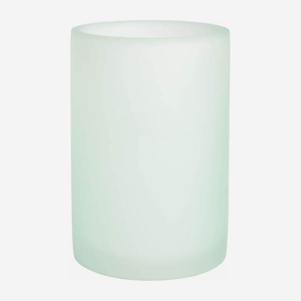 Tumbler made in polyresin , sea-green