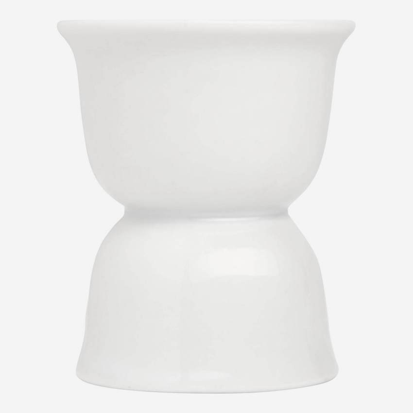 Egg cup in porcelain, white