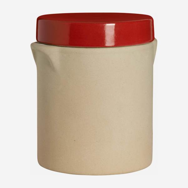Box made in sandstone - 1L, natural and red