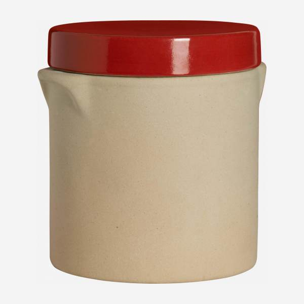 Box made in sandstone - 0,5L, natural and red