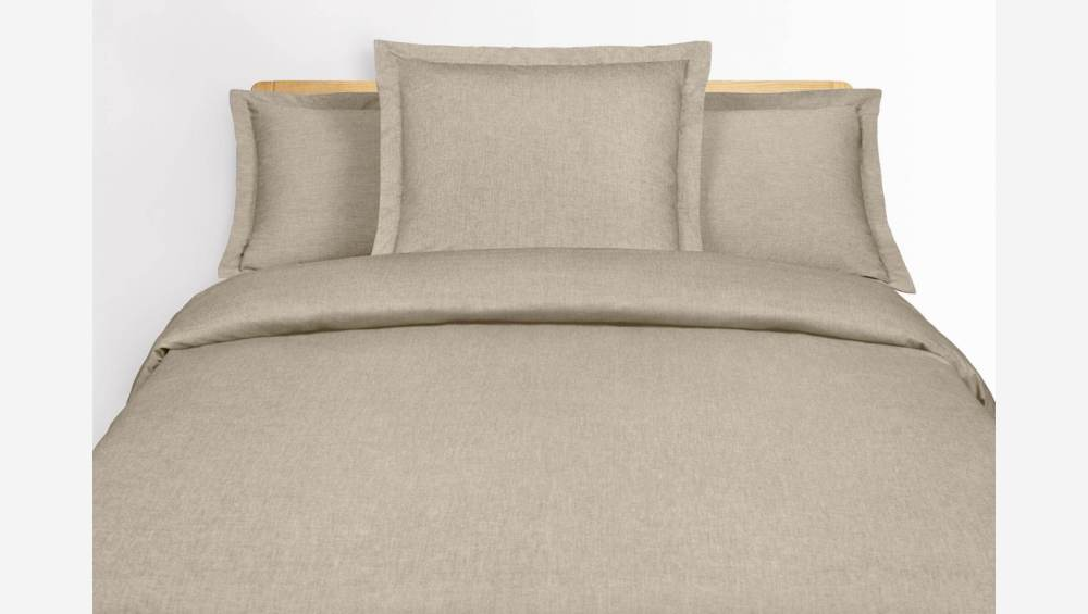 Duvet cover 200x200 made in cotton, oat colour