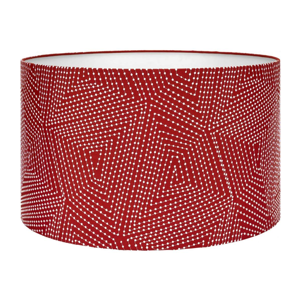 Lampshade 53cm, red with white patterns n°1