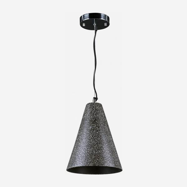 Ceiling lamp made of terrazzo, anthracite
