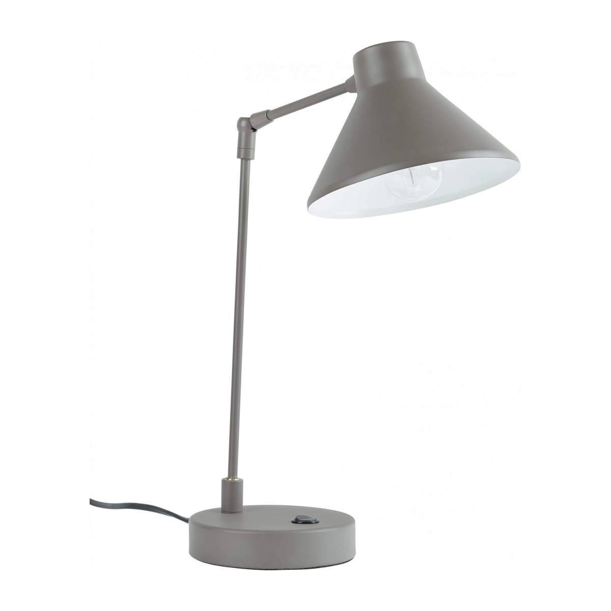 Steel desk lamp, brown n°1