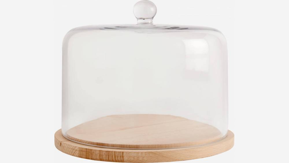 Cheese plate in glass 26cm