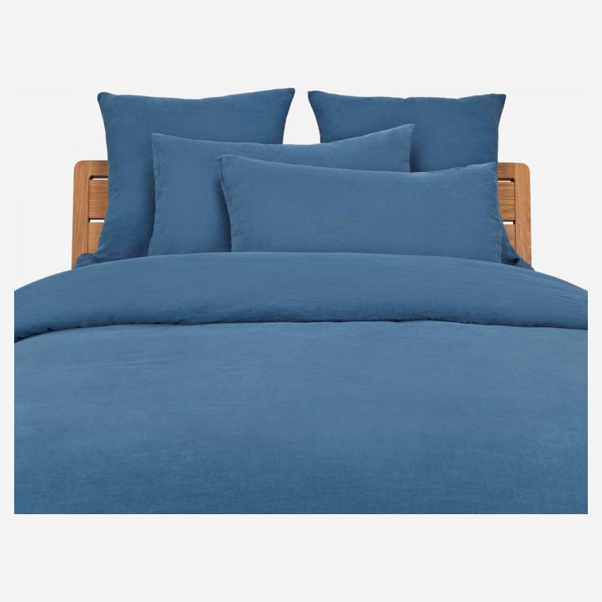 Duvet cover 200x200 made in flax, blue