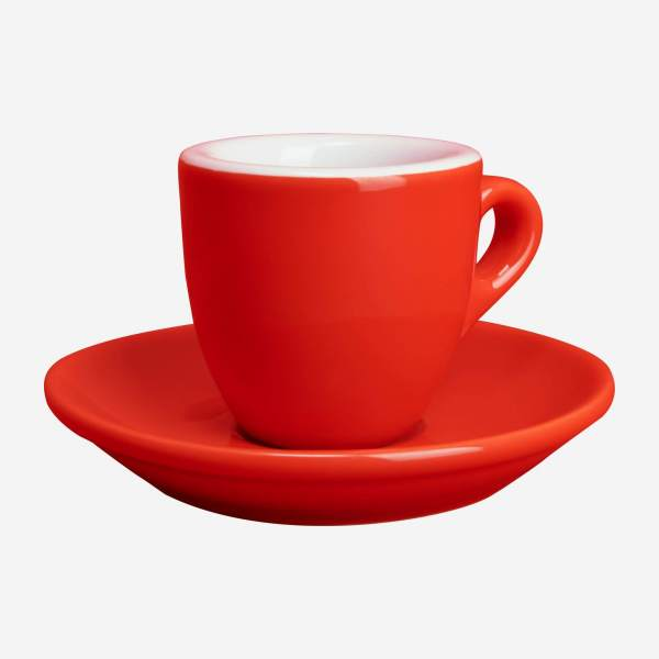 Expresso cup in porcelain, red