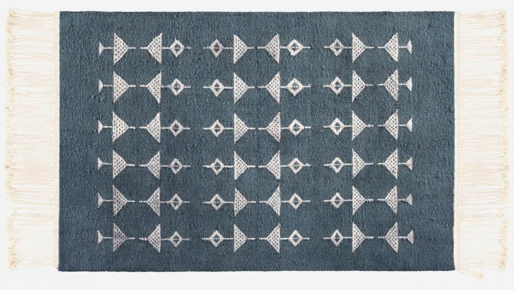 Woven carpet made of wool 170x240, grey