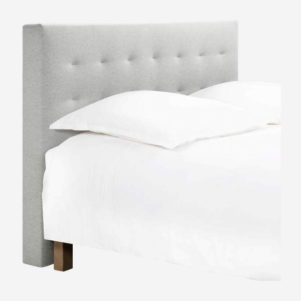 Headboard for 160cm box spring in fabric, mouse-grey
