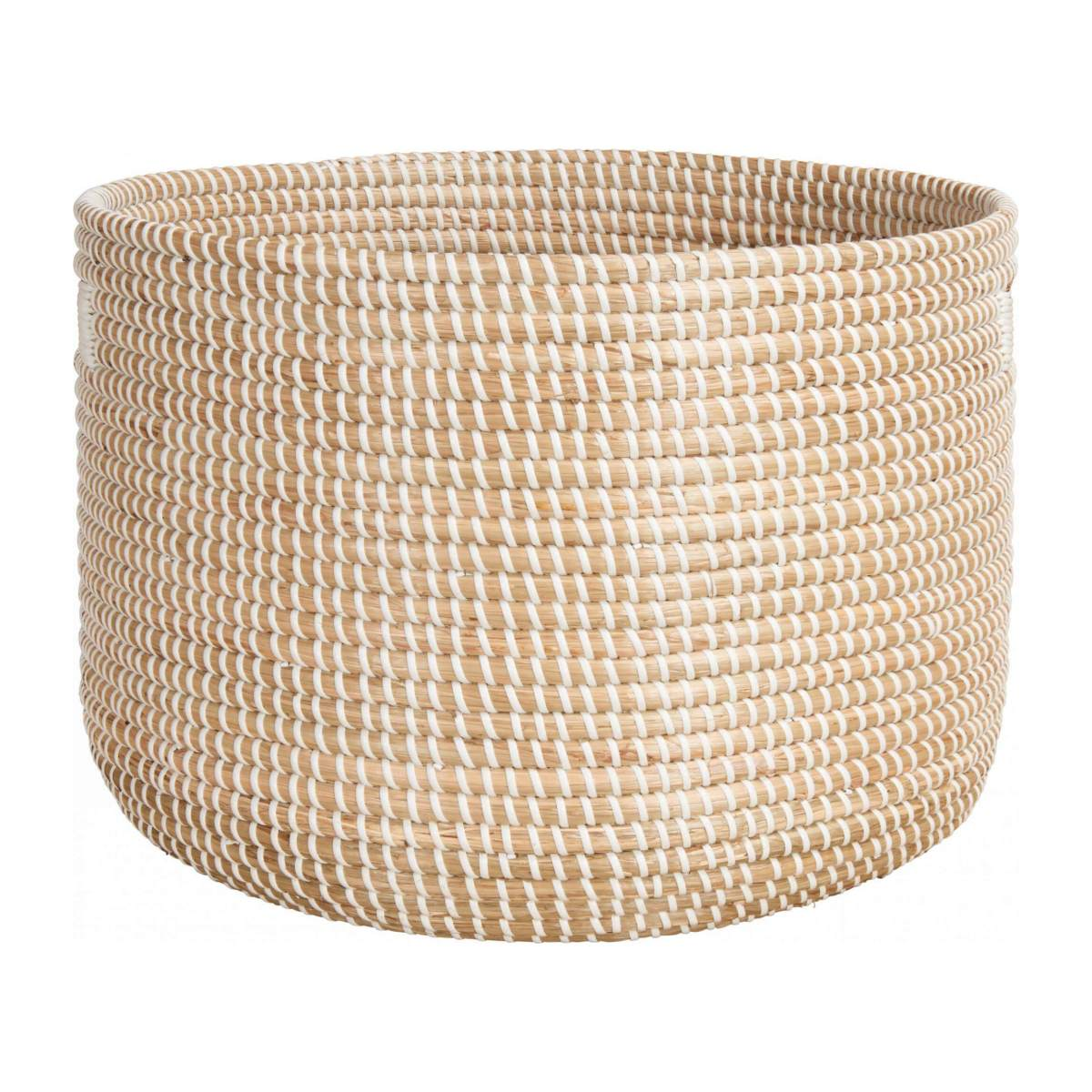 Basket 30cm with storage spaces made of seagrass n°2
