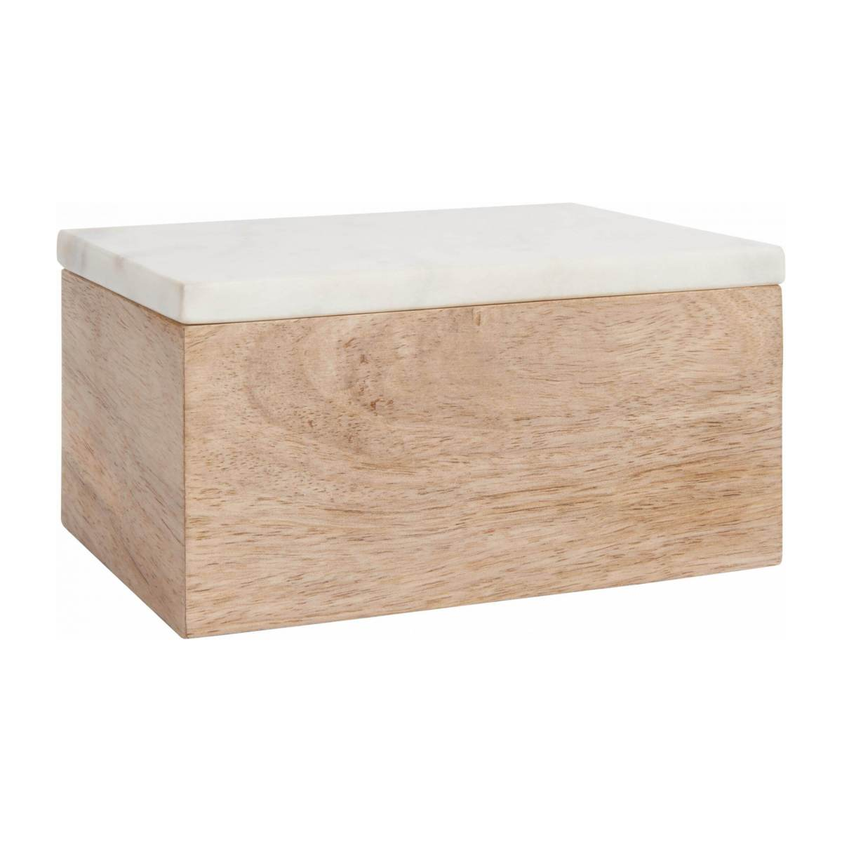 Box made of wood and marble n°1