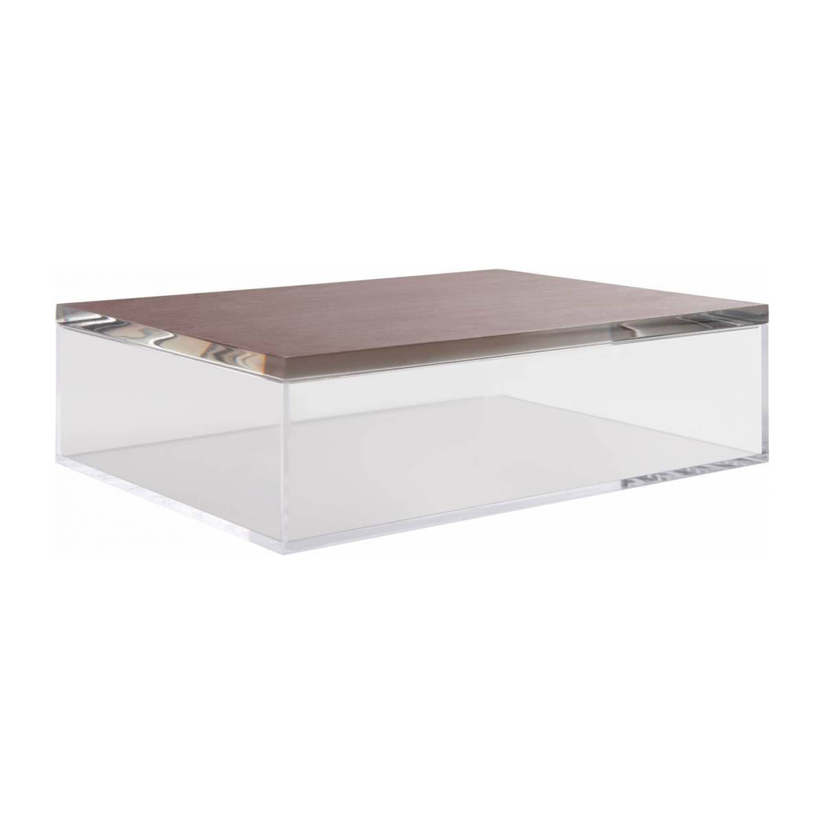 Box made of acrylic, transparent and silver n°1