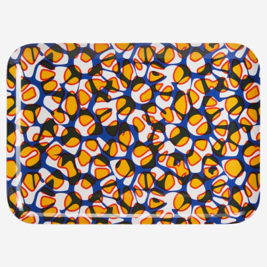 Tray made of melamine 35x25cm, with patterns