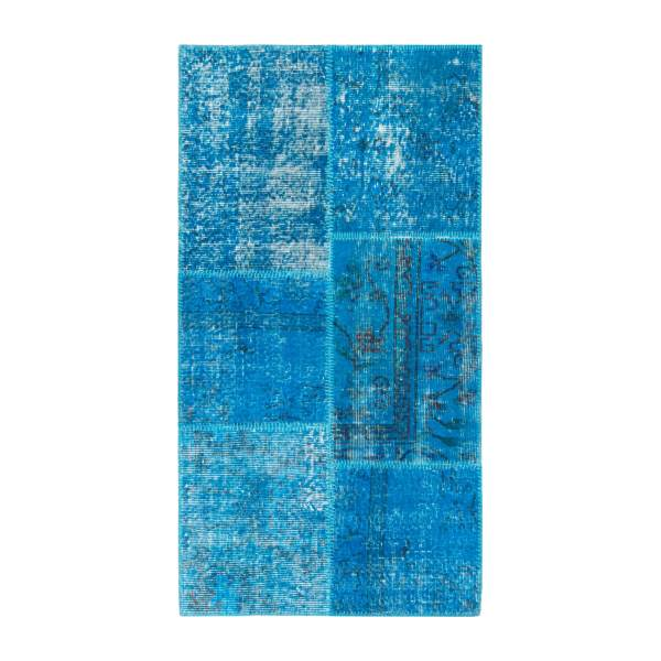 Carpet made of wool 80x150, turquoise