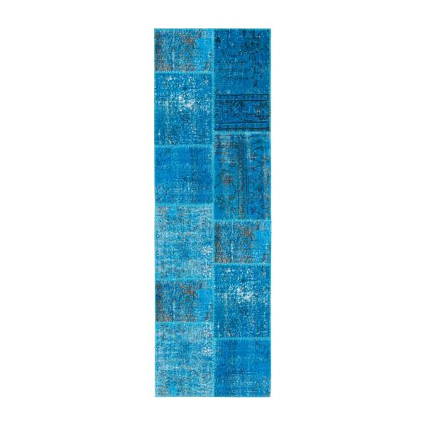Carpet made of wool 80x250, turquoise