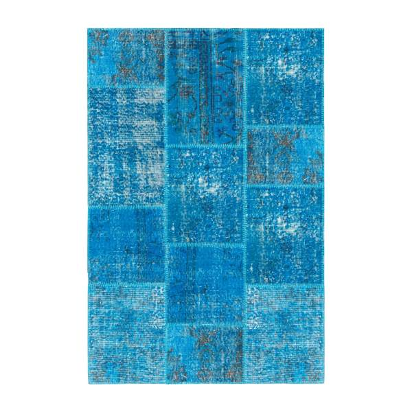 Carpet made of wool 120x180, turquoise