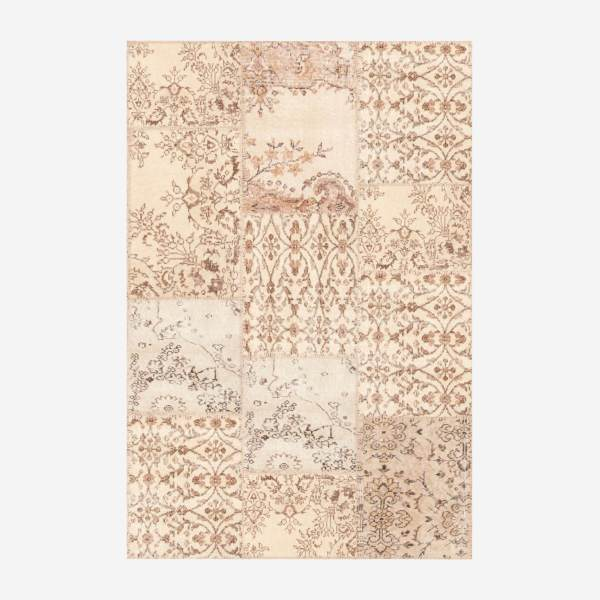 Carpet made of wool 120x180, beige