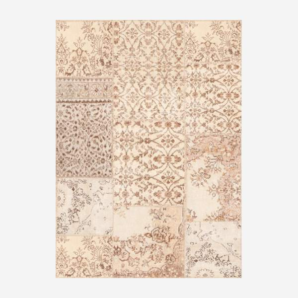 Carpet made of wool 130x180, beige