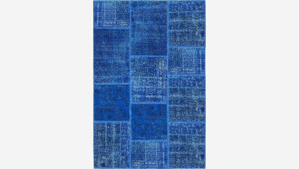 Carpet made of wool 120x180, dark blue