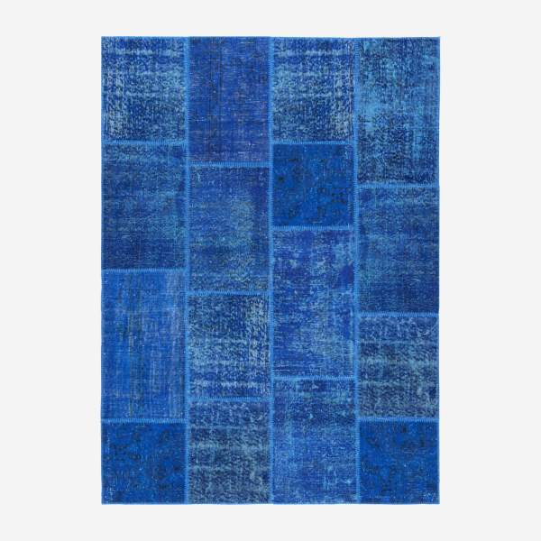 Carpet made of wool 160x220, dark blue