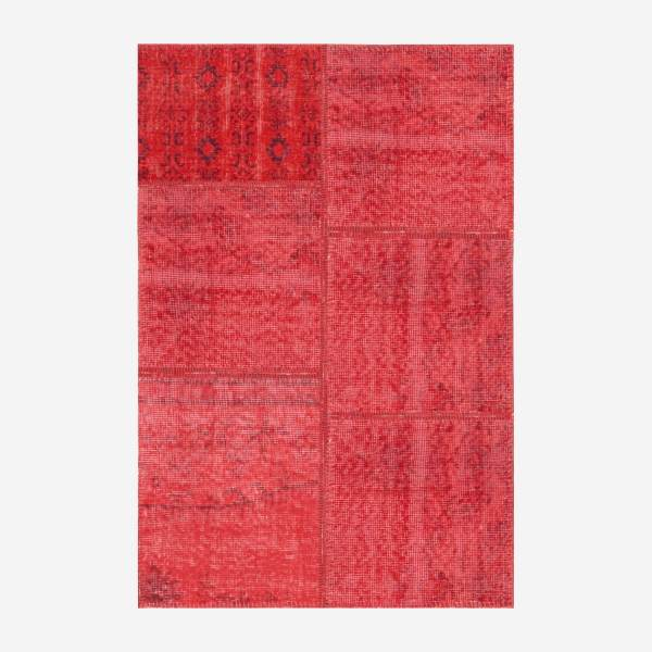 Carpet made of wool 80x120, red