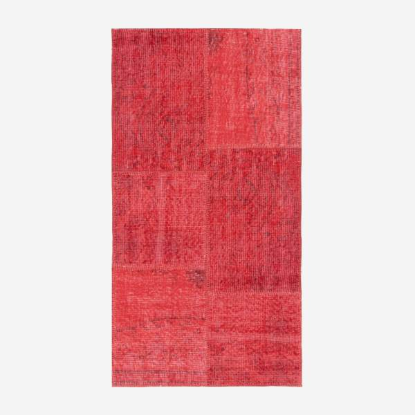 Carpet made of wool 80x150, red