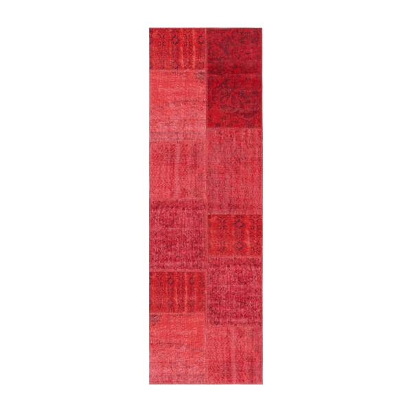 Carpet made of wool 80x250, red