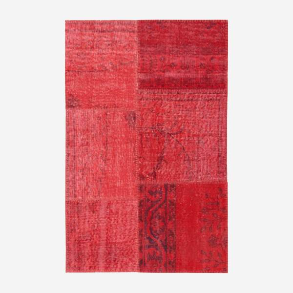 Carpet made of wool 90x140, red