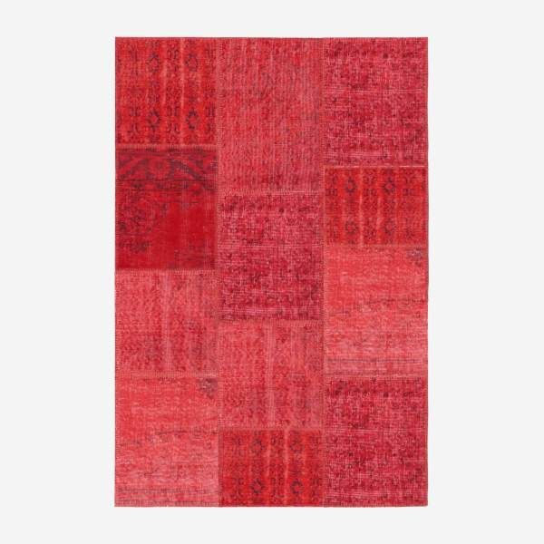 Carpet made of wool 120x180, red