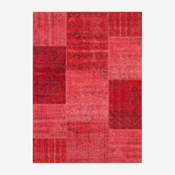 Carpet made of wool 130x180, red