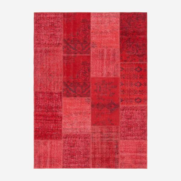 Carpet made of wool 160x220, red
