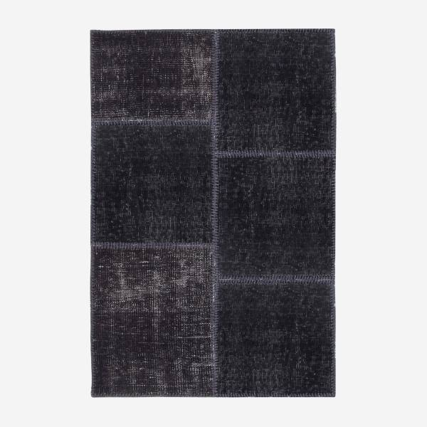 Carpet made of wool 80x120, black