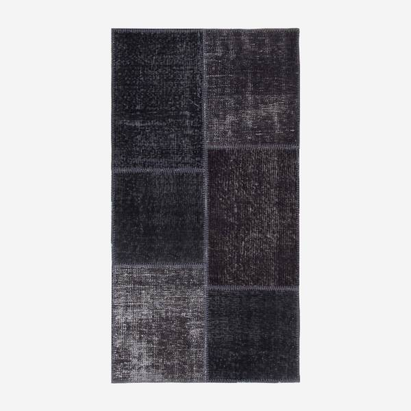 Carpet made of wool 80x150, black