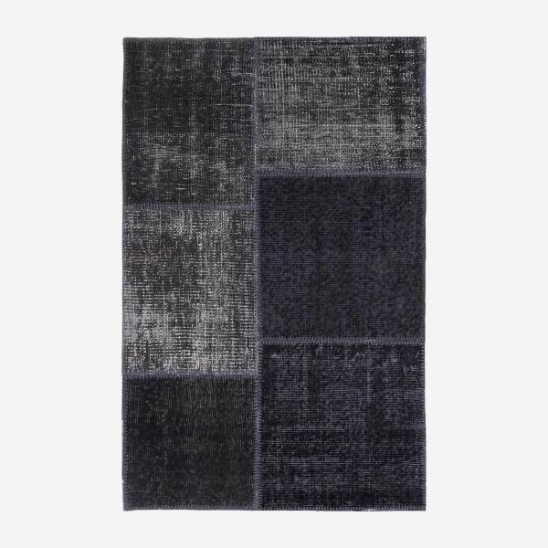 Carpet made of wool 90x140, black