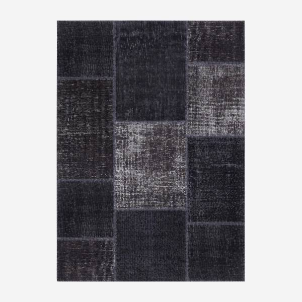 Carpet made of wool 130x180, black