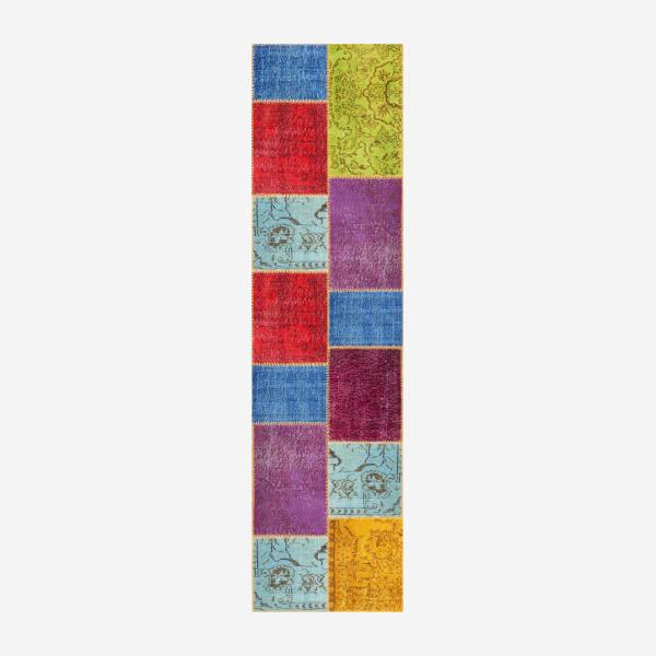 Carpet made of wool 80x300, multicolor