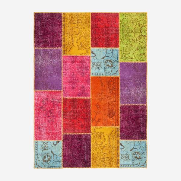 Carpet made of wool 160x220, multicolor