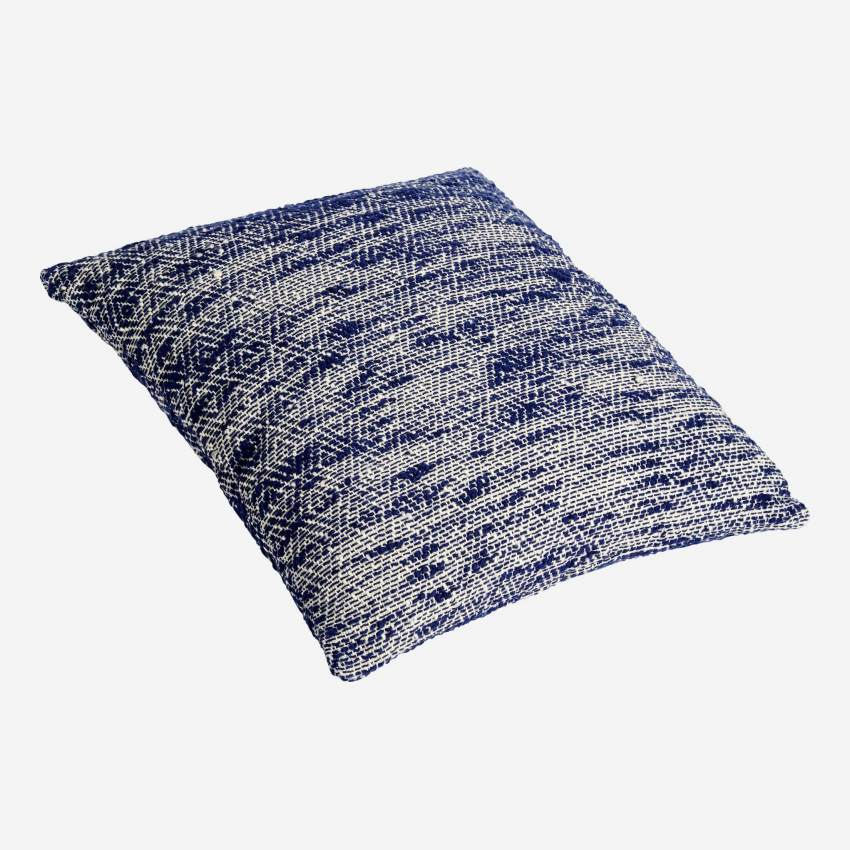 Cushion made of cotton 45x45cm, blue