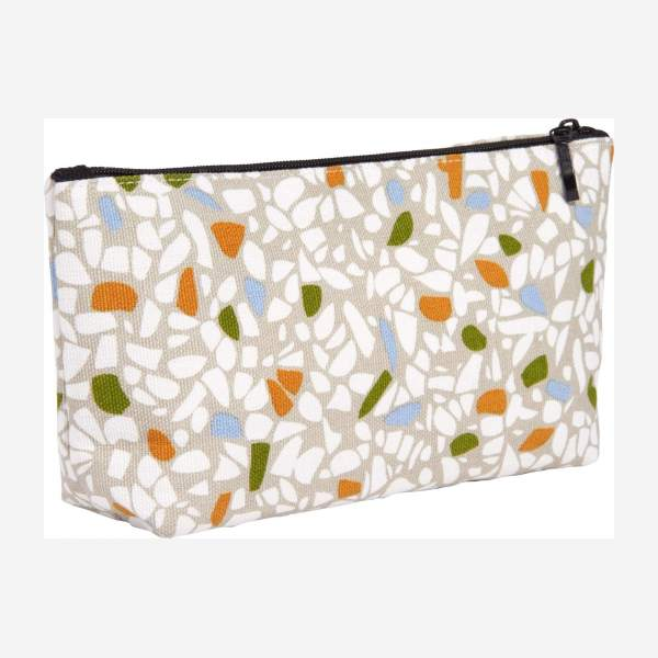 Toiletry bag 20x4x11cm, with patterns