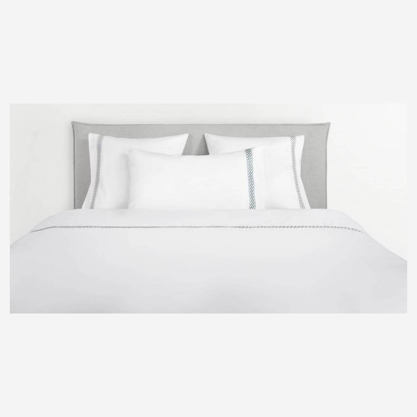 Embroidered duvet cover made of cotton 200x200, white