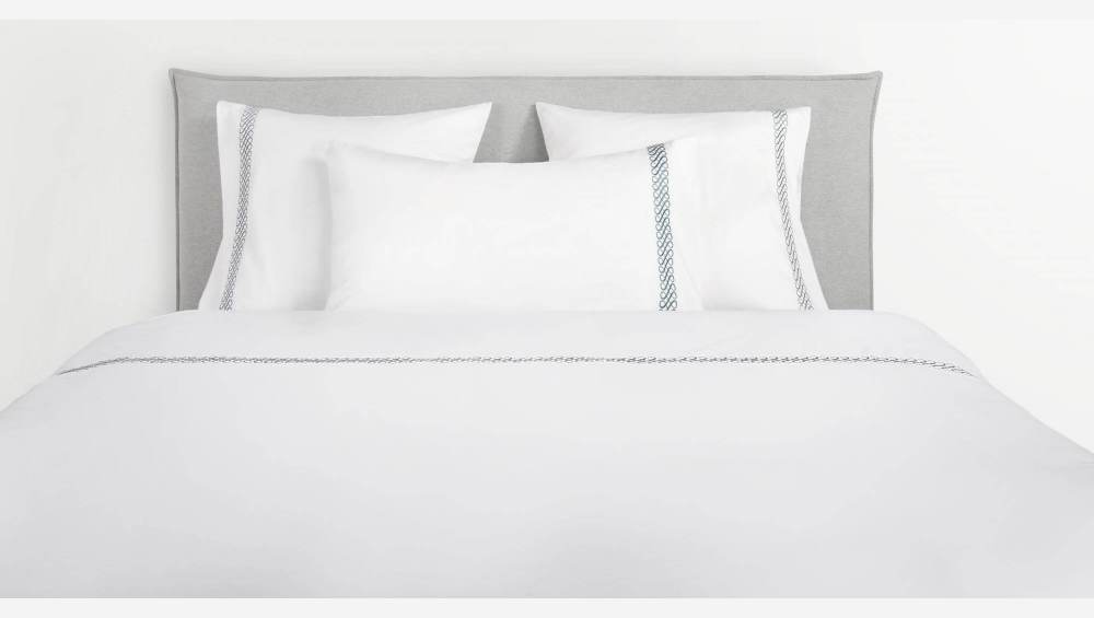 Embroidered duvet cover made of cotton 240x220, white