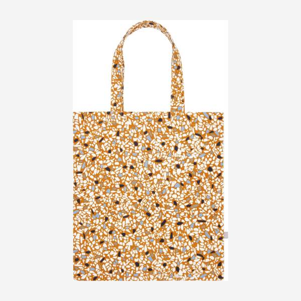 Shopping bag made of cotton 35x40cm, with patterns