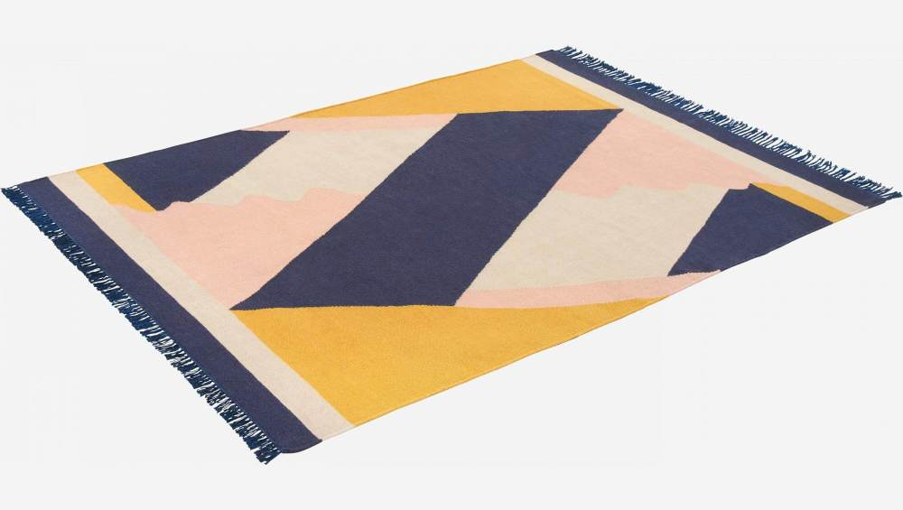 Woven carpet made of cotton 240x170cm - Design by Janine Rewell