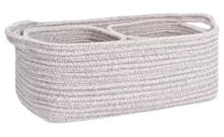 Set of 3 baskets, grey