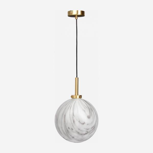 Glass pendant marble effect 25cm