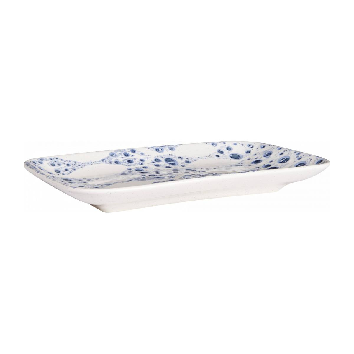 Presentation dish rectangulaire made of faience 25cm, white n°1
