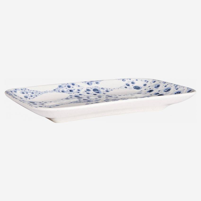 Presentation dish rectangulaire made of faience 25cm, white