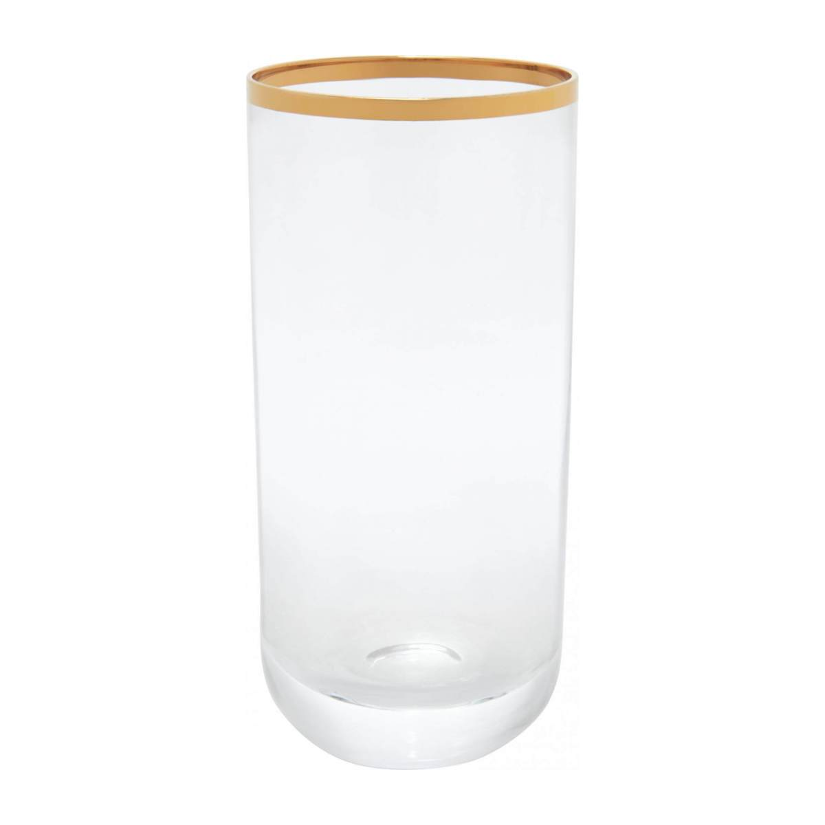 Tumbler made of glass haut, with gold edge n°1